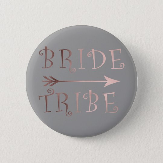 elegant faux rose gold bride tribe design 6