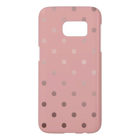 elegant faux rose gold pink polka dots
