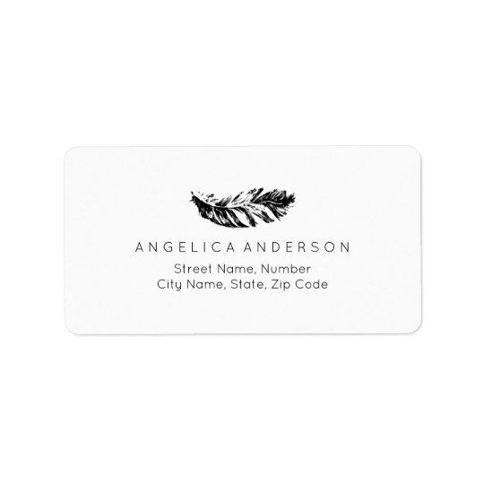 Elegant Feather Custom Address Label