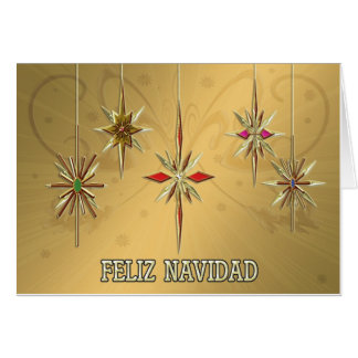 Elegant Feliz Navidad card with ornaments
