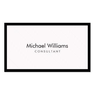 Elegant feminine companion blaco black simple pack of standard business cards