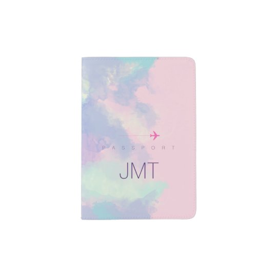 elegant & feminine lilac watercolor passport holder