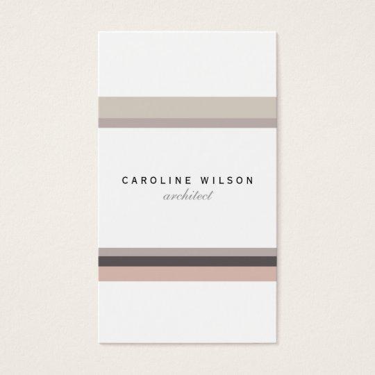 Elegant feminine minimalist modern white pink line business