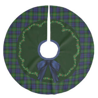 Elegant Festive Gordon Tartan Plaid Tree Skirt