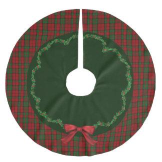 Elegant Festive Scottish Dunbar Plaid Tree Skirt