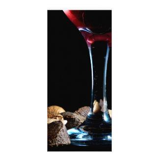Elegant festive seasonal with wine glass and nuts rack card