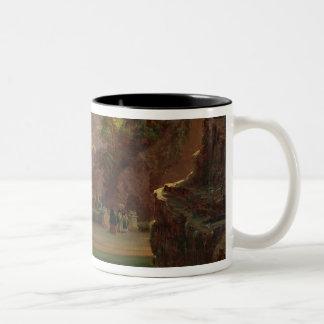 Elegant Figures Conversing on a Terrace, Sintra, P Two-Tone Coffee Mug