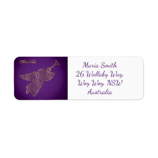 Elegant filigree angel return address label