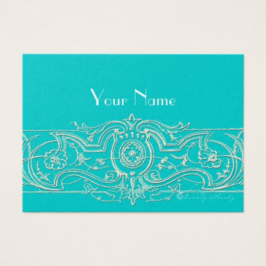 Elegant Filigree Custom Business Cards