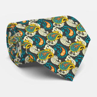 Elegant Filigree Paisley Swirls Pattern Tie