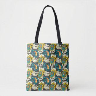Elegant Filigree Paisley Swirls Pattern Tote Bag
