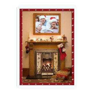 Elegant Fireplace Christmas Party / Family Reunion 13 Cm X 18 Cm Invitation Card