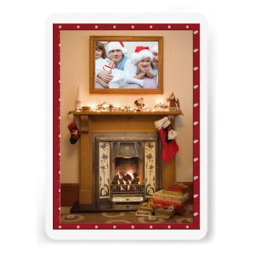 Elegant Fireplace Christmas Party / Family Reunion Invite