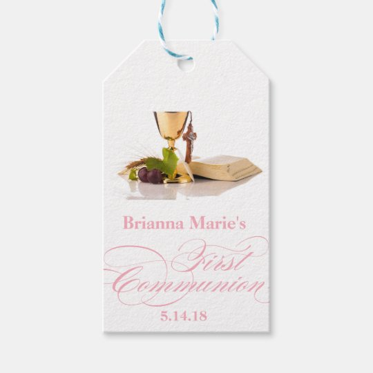 Elegant First Communion Party Favour Labels|Tags Gift Tags
