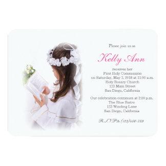 Elegant First Holy Communion Invitation for Girl