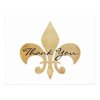 Elegant Fleur de Lis Thank You Postcard