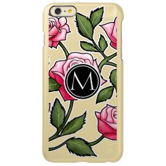 Elegant Floral and Monogram iPhone 6 Plus Case