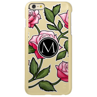 Elegant Floral and Monogram iPhone 6 Plus Case
