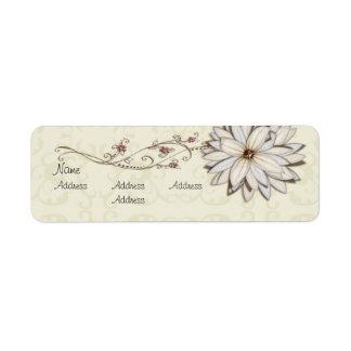 Elegant Floral Avery Label Return Address Label