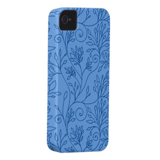 Elegant floral blue iPhone 4/4S Case