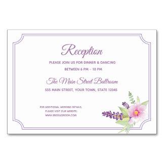 Elegant Floral Bouquet Reception Card