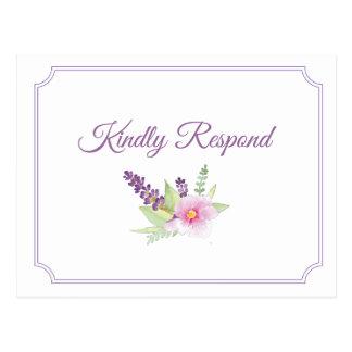 Elegant Floral Bouquet RSVP Postcard