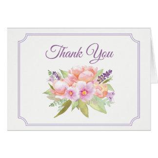 Elegant Floral Bouquet Thank You Card