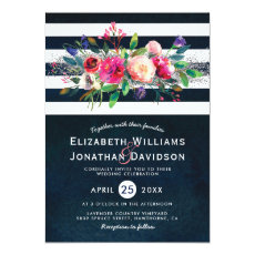 Elegant Floral Chic Watercolor Formal Wedding