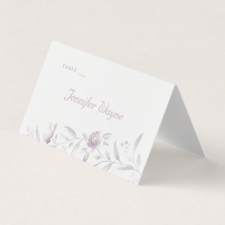 Elegant floral Chinoiserie wedding place cards