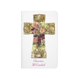 Elegant Floral Cross Journal