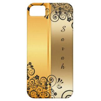 Elegant floral decoration iPhone 5 case