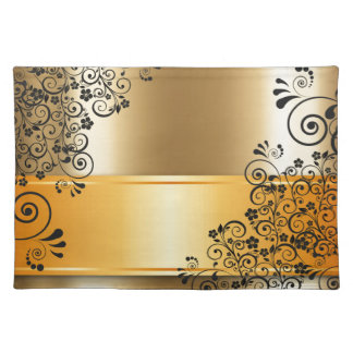Elegant floral decoration placemat