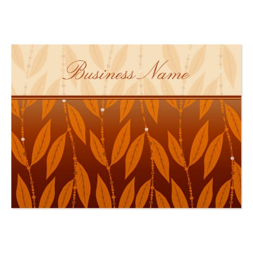Elegant Floral Design Chubby Business Card