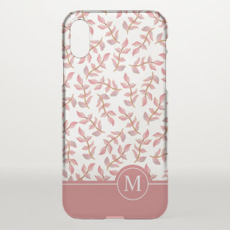 Elegant Floral Ditzy Monogram | iPhone X Case