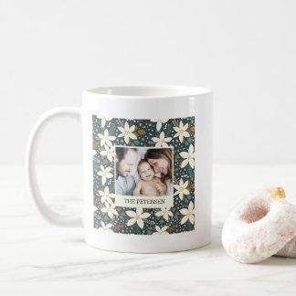 Elegant Floral Family Photo Mug