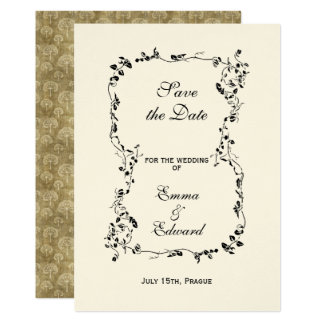 Elegant floral frame Wedding Invitation Card