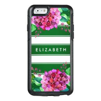Elegant Floral Green Stripe iPhone 6/6s Case