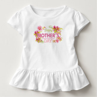 Elegant Floral Happy Mother's Day | Ruffle Tee