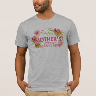 Elegant Floral Happy Mother's Day   Shirt