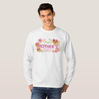 Elegant Floral Happy Mother's Day   Sleeve Shirt