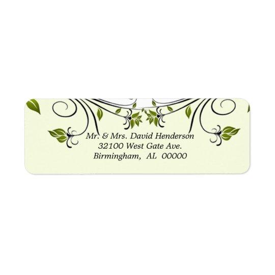 Elegant floral Labels