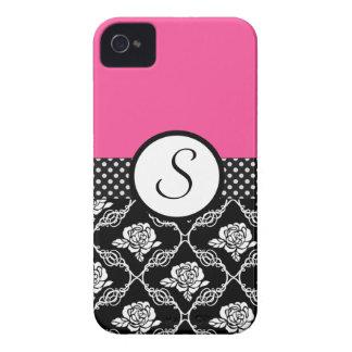 Elegant Floral Lace Monogram iPhone 4 Case-Mate Case
