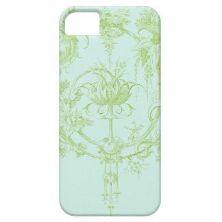 Elegant Floral, Leaf Green and Aqua iPhone 5 Case