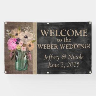 Elegant Floral Mason Jar Wedding