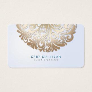 Elegant Floral Motif Event Planner Business Card