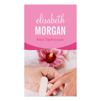 Elegant Floral Nail Salon Manicure SPA Pack Of Standard Business Cards