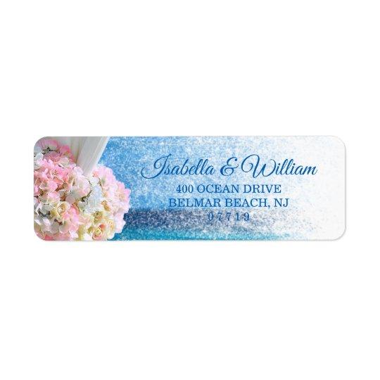 Elegant Floral Ocean Beach Summer Wedding Address