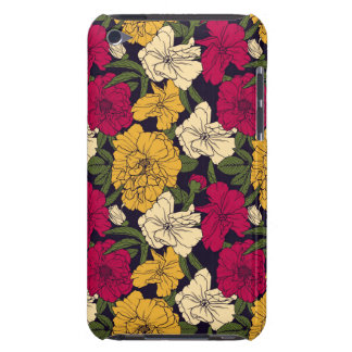 Elegant floral pattern barely there iPod cases