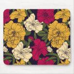 Elegant floral pattern mouse mats
