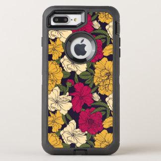Elegant floral pattern OtterBox defender iPhone 8 plus/7 plus case